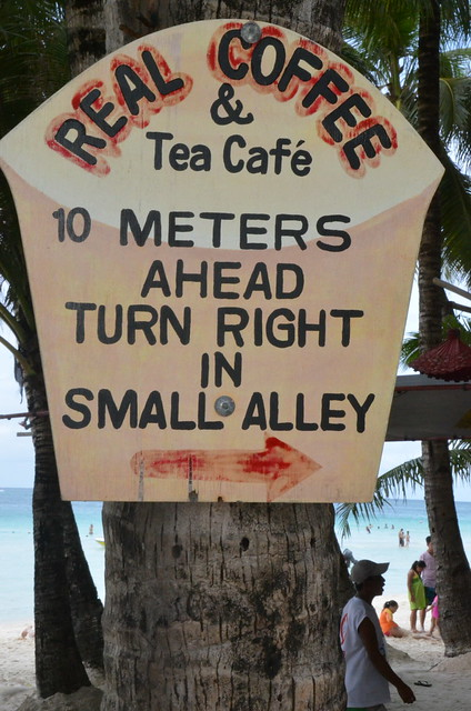 Real Coffee & Tea Cafe Sign