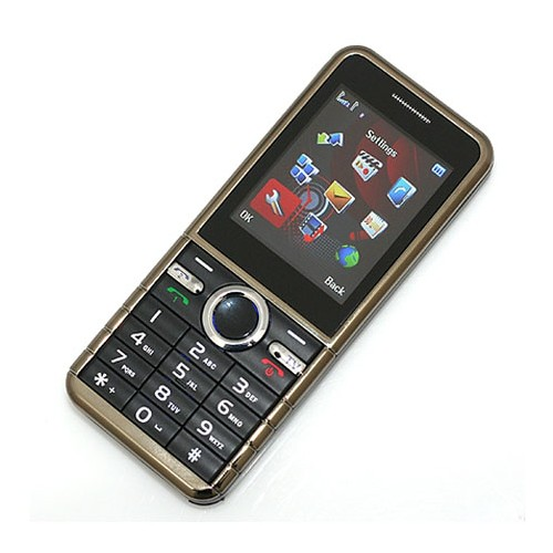 GEMEI G80 Dual Sim Card Dual Standby Cell Phone TV MP4 Black