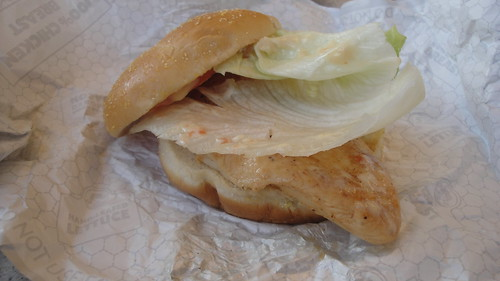 Wendy's ultimate chicken grill sandwich is healthy!