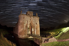 Caerlaverock Castle (night photographer) Tags: old light castle heritage night painting photography star scotland long exposure scottish trail astronomy dumfries caerlaverock