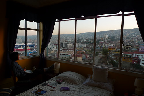 Our room at The Yellow House - Valparaiso, Chile