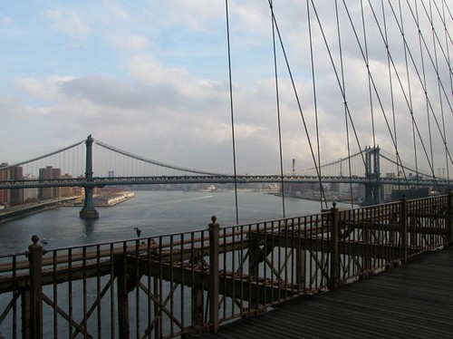 View of Manhattan Bridge from the Brooklyn Bridge