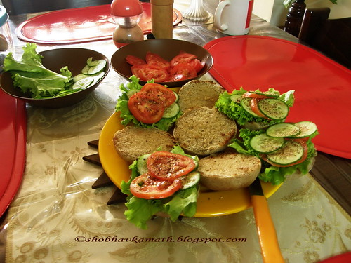Healthy multi grain Bread - open Sandwich