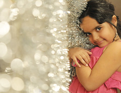Sparkling Precious (WHID) Tags: christmas pink girl glitter asian star bokeh daughter newyear sparkle earrings chil
