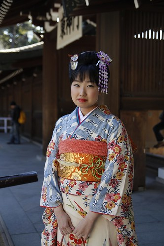 Another lady in kimono
