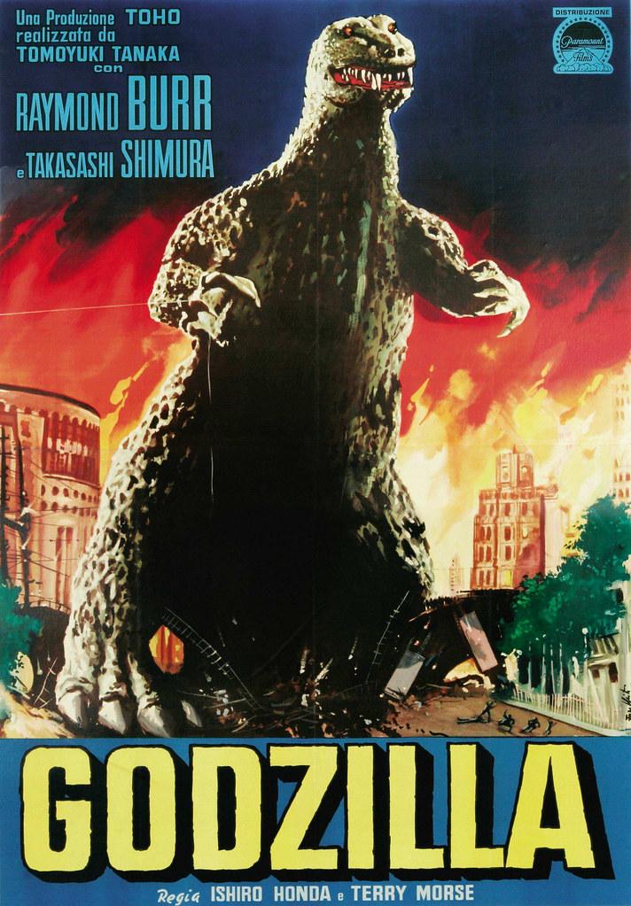 Godzilla (Toho, 1956). Italian Poster