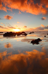 A winter warmer (@Gking_photo) Tags: winter sunset sea england sun seascape reflection beach water canon landscape photography coast sand rocks cornwall waves imac tide january coastal coastline westcountry canon1740mmf4l 2011 flickrexplore canon5dmkii