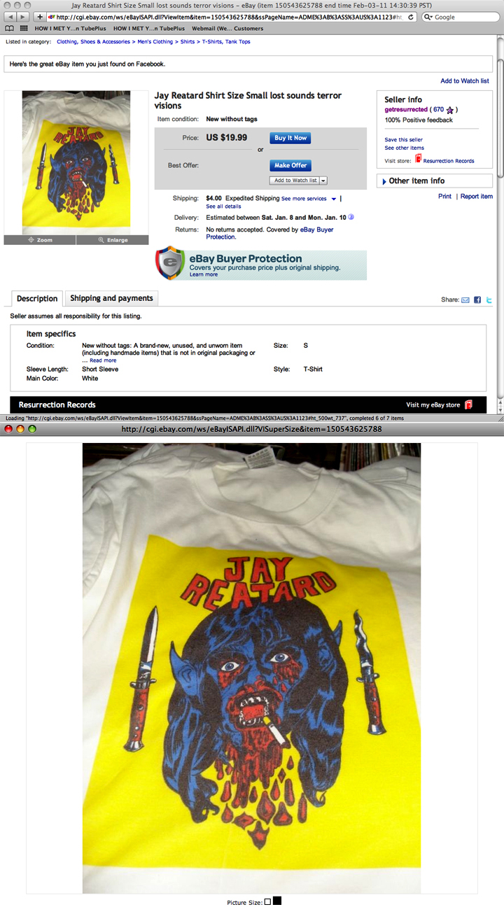 2011/01/12 Bootleg Reatard Shirt I Saw On Ebay