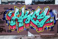 Toronto Graffiti 8332 (sniderscion) Tags: street urban toronto canada color colour art wall scott graffiti intense nikon paint bright vivid canadian vandalism chuck ac tamron f28 teck 2010 snider akes gains d80 1750mm tamronspaf1750mmf28 sniderscion