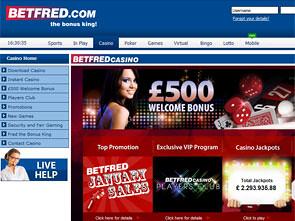 Betfred Casino Home