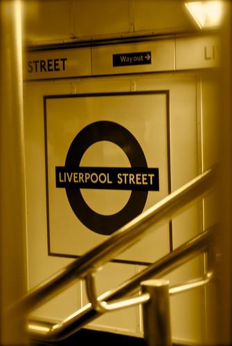 ...giunti a Liverpool Street...