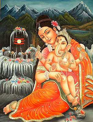 baby_ganesha_seated_in_the_lap_of_mother_parvati_or79
