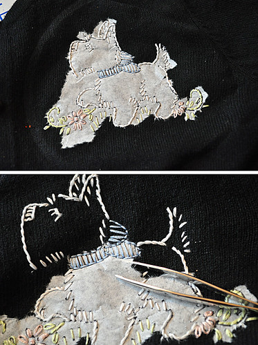 01.18.11 | sweater embroidery tutorial