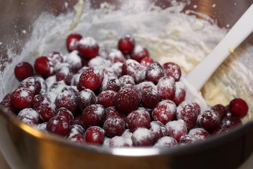 floured cranberries