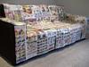Junk Mail Sofa (momandpopart) Tags: california losangeles furniture sofa junkmail toorganize redplum
