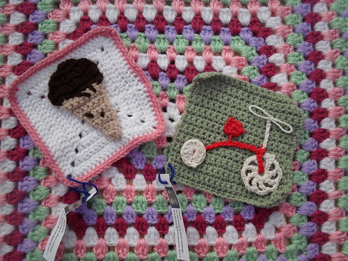 Two Squares for our 'Young At Heart' Blanket.