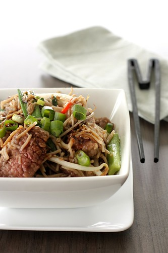 Beef noodle stir-fry
