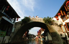 Shanghai - Zhujiajiao (cnmark) Tags: china building classic water architecture buildings town ancient shanghai tourist best forgotten preserved   gebude attraction zhujiajiao renovated   allrightsreserved