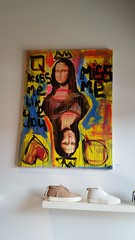 Mona Lisa (Terry Hassan) Tags: usa florida miami wynwood wall art painting picture monalisa shoe footware shelf modern lululaboratorium