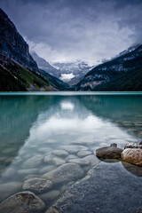 Subdued beauty at Lake Louise (Jackpicks) Tags: lake canada dawn alberta lakelouise banffnationalpark bej canadianlandscapephotography gpsetest