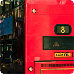 1/3 -- 2 x 2 (tripowski) Tags: red color colour bus london square intense nikon vivid nikkor 70200 vr1 70200vr d700