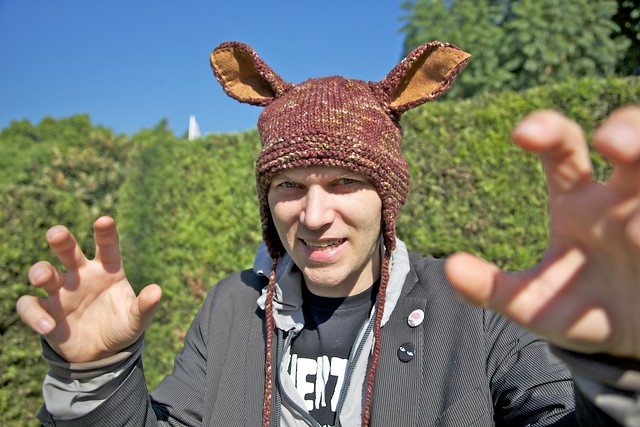 shawn's knit wolf hat