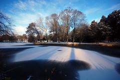 Frozen lake (blinkingidiot) Tags: park nottingham morning lake early frozen university soe highfield universityofnottingham highfields highfieldspark doublyniceshot doubleniceshot tripleniceshot mygearandme mygearandmepremium artistoftheyearlevel3