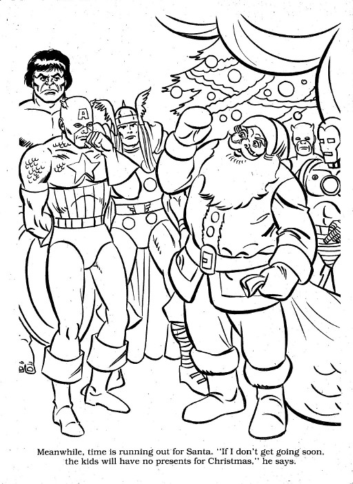 marvel christmas coloring00043