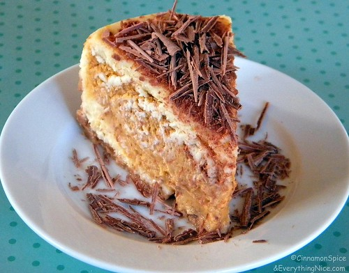 Layered Pumpkin Cheesecake with Belgium Chocolate