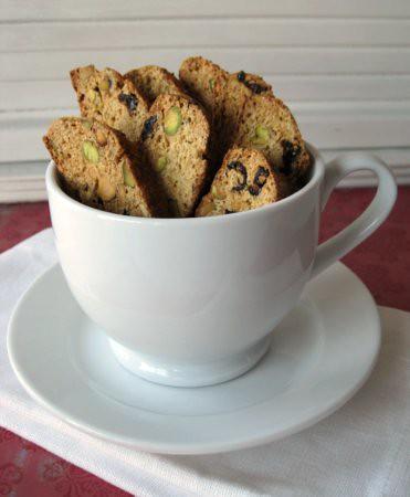Pistachio &Cranberry Biscotti