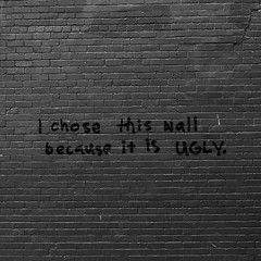 The Chosen [explored] (Brendan_Timmons) Tags: bw wall graffiti blackwhite southyarra melbourne ugly squared grungy canon50mmf14 canon5dmkii