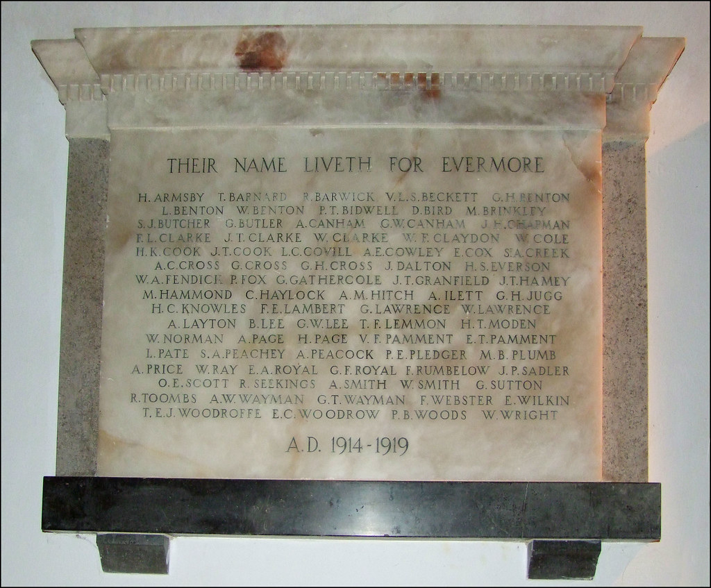 Ely Holy Trinity parish war memorial