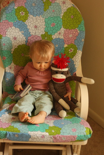 ready to read with sock monkey