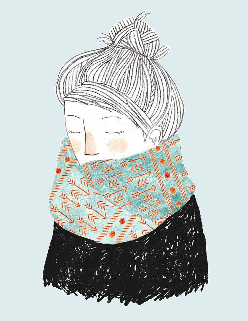 arrow scarf