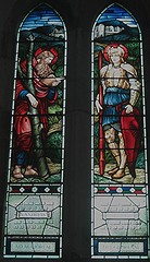 [4533] Wroxeter : Saints (Budby) Tags: church window shropshire stainedglass preraphaelite wroxeter churchesconservationtrust