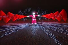 I am Santa Claus (duane.schoon) Tags: longexposure light lightpainting night florida santaclaus sarasota lightwaves lightatnight nikonstunninggallery duanesphotos duaneschoon dwcffnight