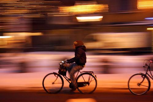 Bike - The Hague - Snow - night