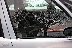 Selfie (Frank van Es http://www.frankvanes.eu) Tags: auto winter selfportrait cold reflection window car sunrise mirror snowman spiegel sneeuw had yeti zelfportret raam selfie reflectie zonsopkomst frankvanes frankvaneswintersneeuw