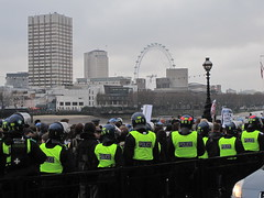 Student protest in London