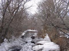 Icy Creek, Taos (Noble Silence) Tags: usa snow newmexico unitedstates taos taospueblo capitolbuilding icyrivers