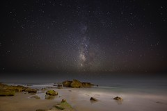 milky way (Eric 5D Mark III) Tags: california longexposure seascape night canon landscape star wideangle galaxy orangecounty lagunabeach milkyway ef14mmf28liiusm eos5dmarkii