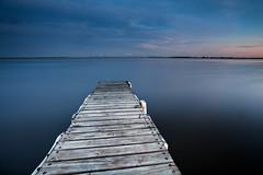 Lake Mulwala (Sam Ili) Tags: blue light sunset sky lake color water canon jetty blues australia dri mulwala yarrawonga canon1740mm4 5dmarkii