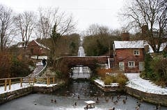 The Hay Inclined Plane up to Blist Hill (PigeonHips) Tags: winter england snow shropshire canals waterways coalport hayinclinedplane shropshirecanal sonyalphadslra200 tubboats