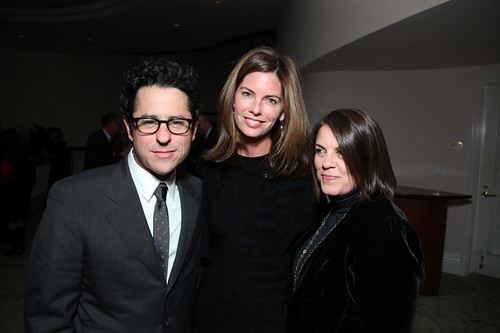 J.J. Abrams and Katie McGrath with Ruth-Ann Huvane