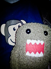 Project365_2_338 (JPSnuffy/Glenn Higgs) Tags: japanese plush mascot domo domokun vignette nhk project365 wellhellothere photobomb unknownflash vignetteforandroid screamingtoy