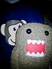 Project365_2_338 (JPSnuffy/Glenn Higgs) Tags: japanese plush mascot domo domokun vignette nhk project365 wellhellothere photobomb unknownflash vignetteforandroid screamingtoy
