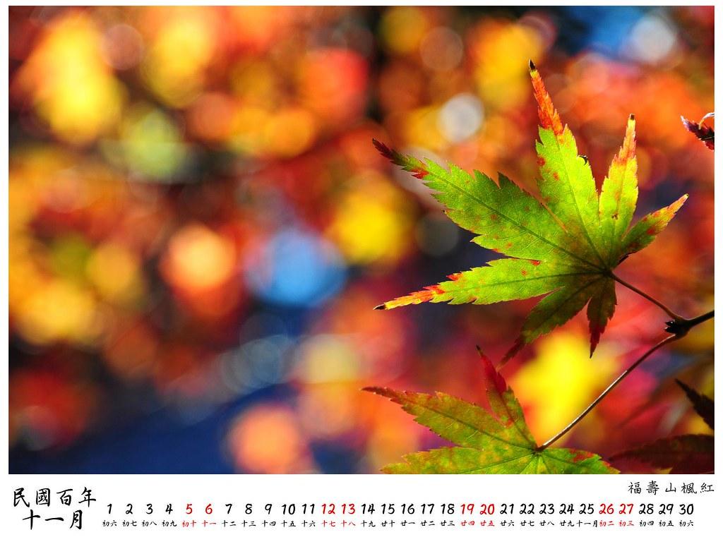 2011 桌曆9 11月