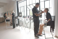 make up set, natural light, studio rental at Shop Studios  complete with cubes and risers and couches call (212) 245-6154