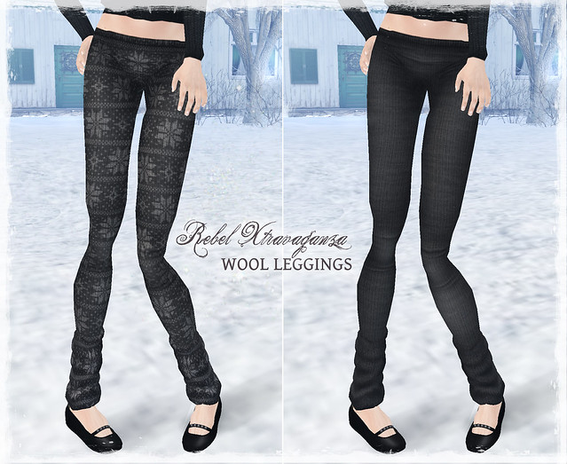 Rebel Xtravaganza - Wool Leggings GREY