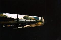 amtrak 154 (badzine) Tags: slr film alexandria lines train 35mm bench print lens 50mm fan focus minolta kodak main rail scan amtrak va 200 manual 154